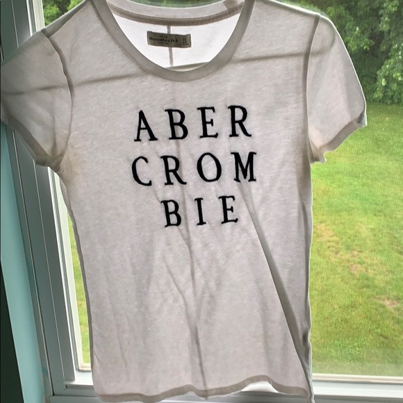 Abercrombie & Fitch Tops - Slim Git White Abercrombie Tee